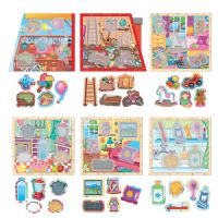 Headu Montessori My Little House Kids Children 6 in 1 Puzzle Jigsaw Gift
